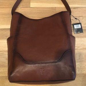 Frye leather hobo with side pocket bag